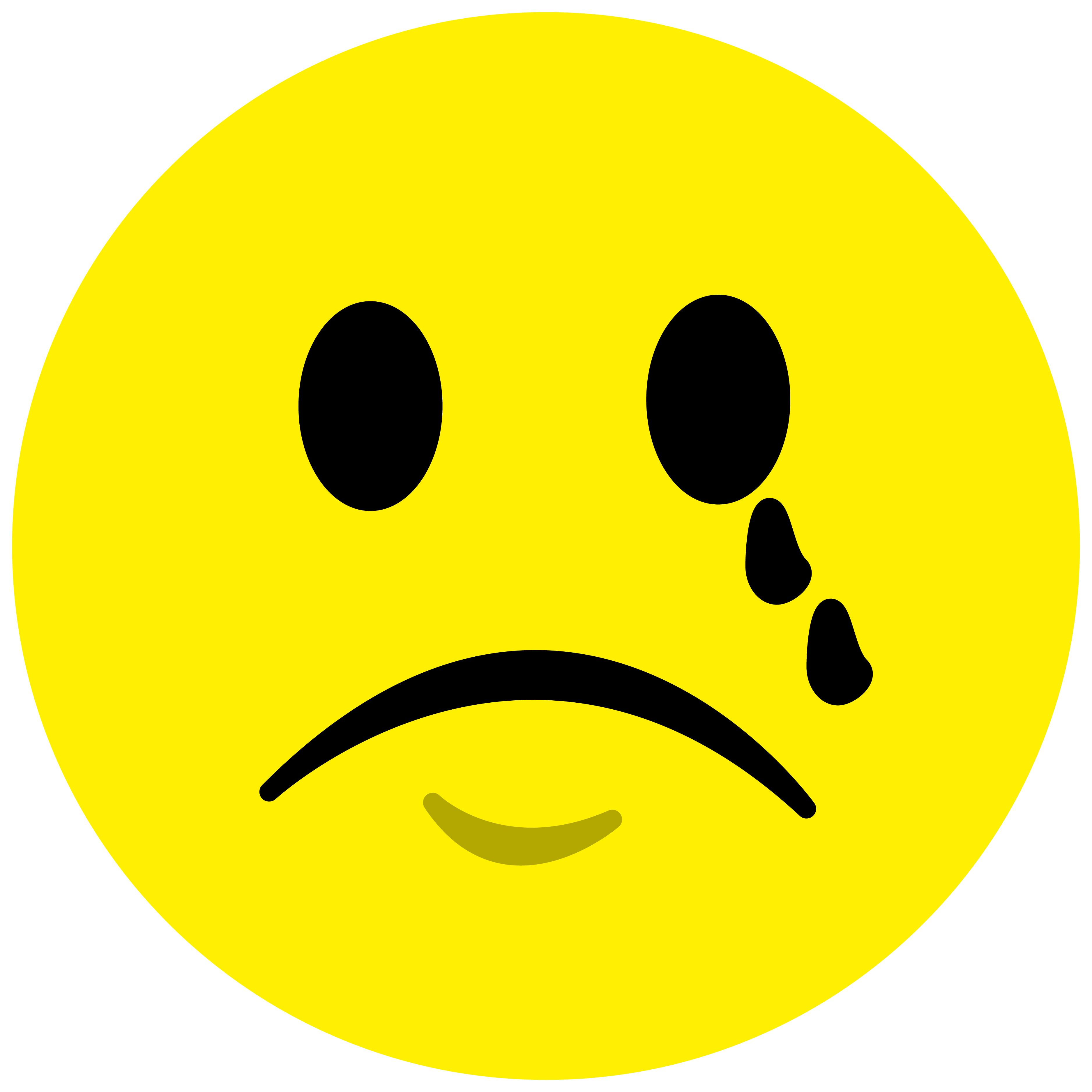 weinender smilie