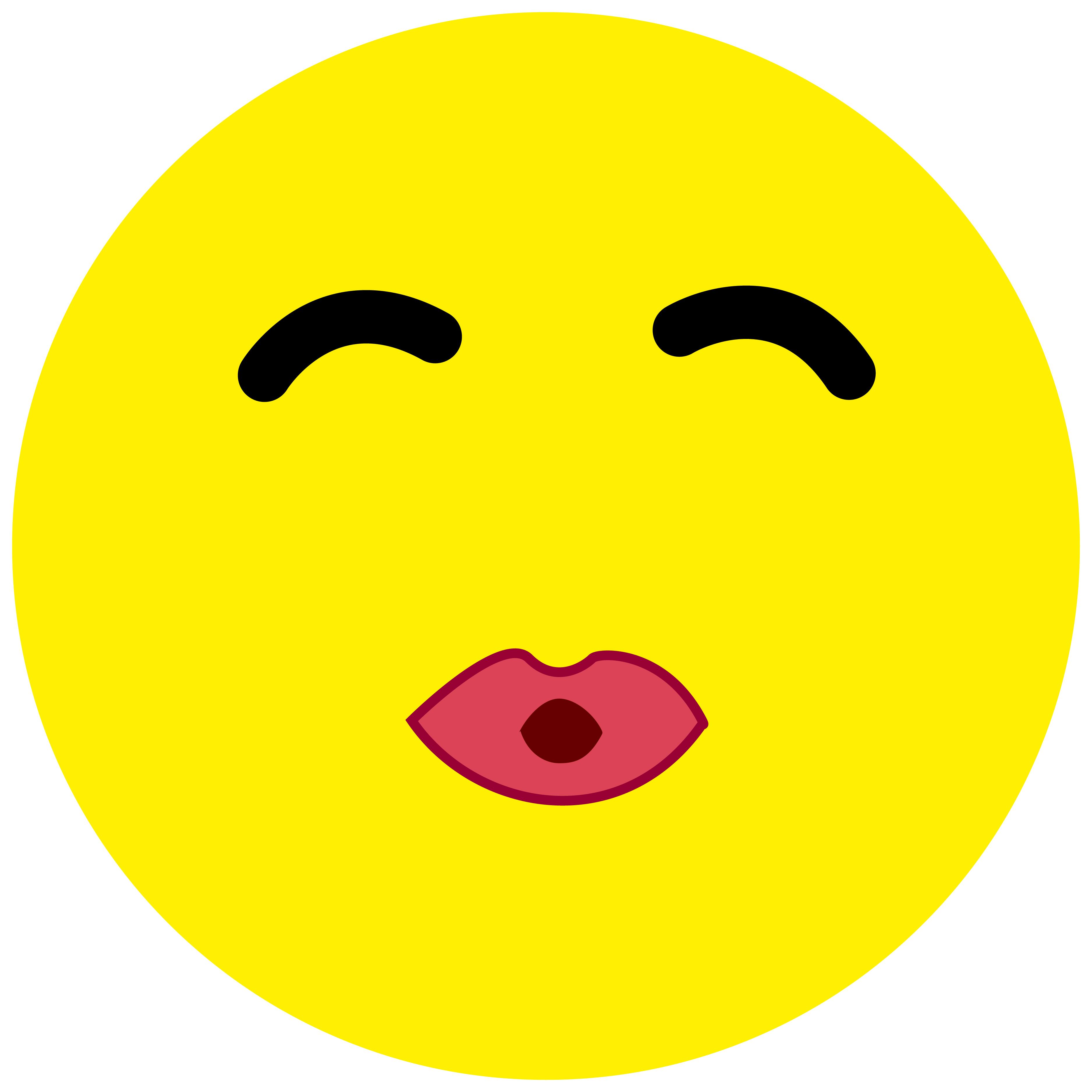 Smiley Aufkleber, Sticker Kussmund Smilies, Menge