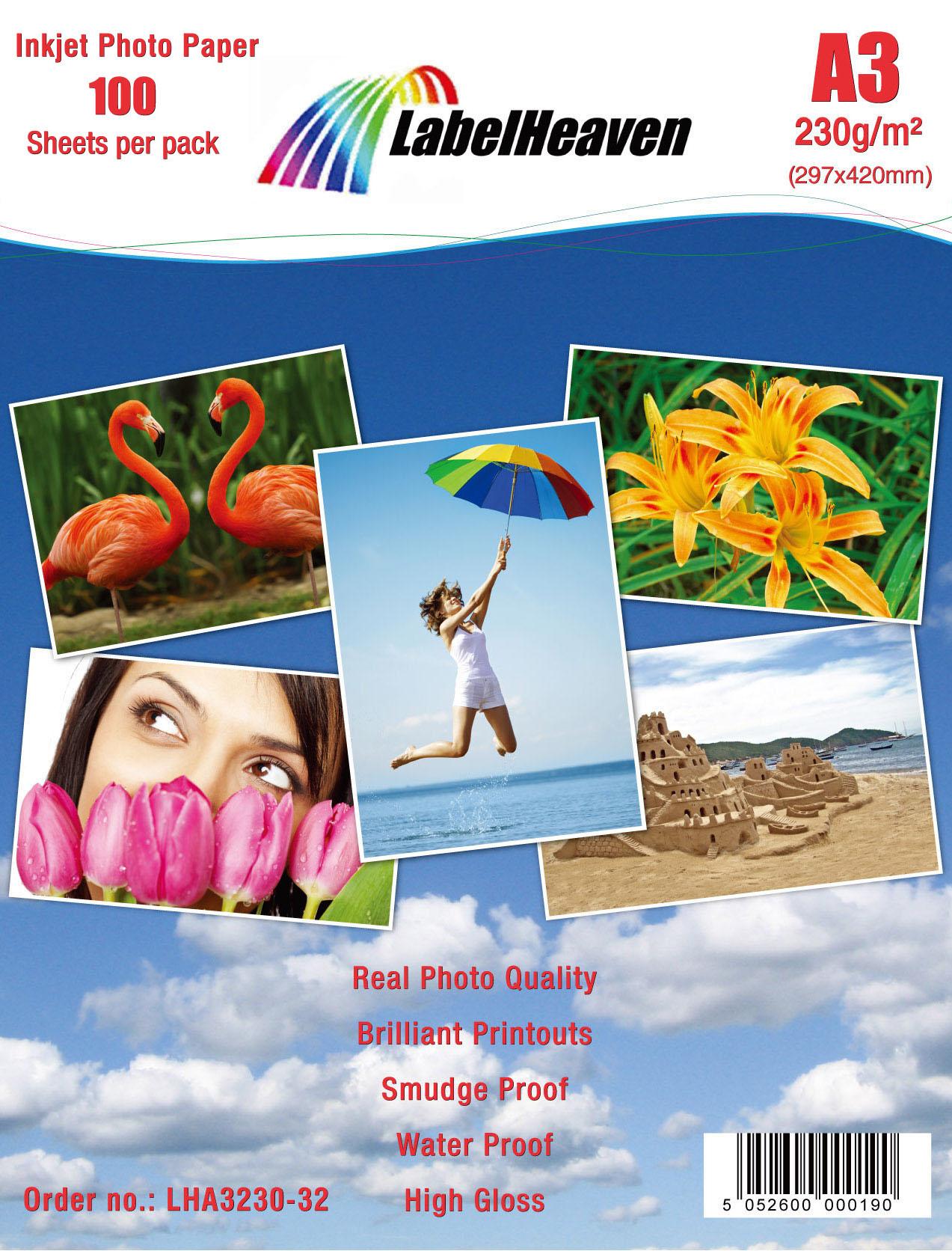 100 Blatt Hochglanz Photopapier DIN A4 180g Fotopapier Super High Glossy P4L