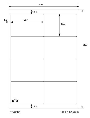 500 Blatt Klebeetiketten DIN A4 weiß 210x15mm Laser Inkjet Kopierer
