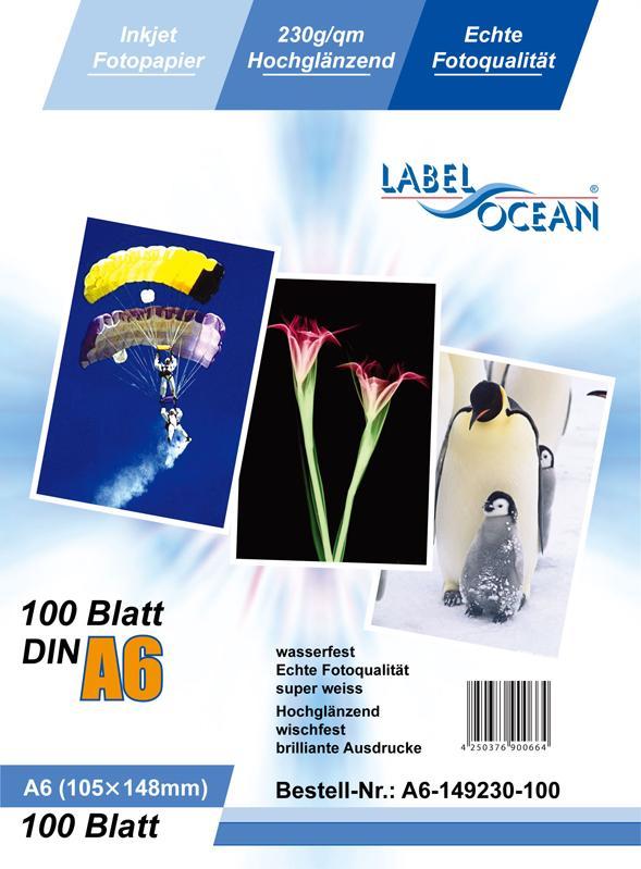 200 Blatt DIN A6 230g/m² Fotopapier HGlossy+wasserfest