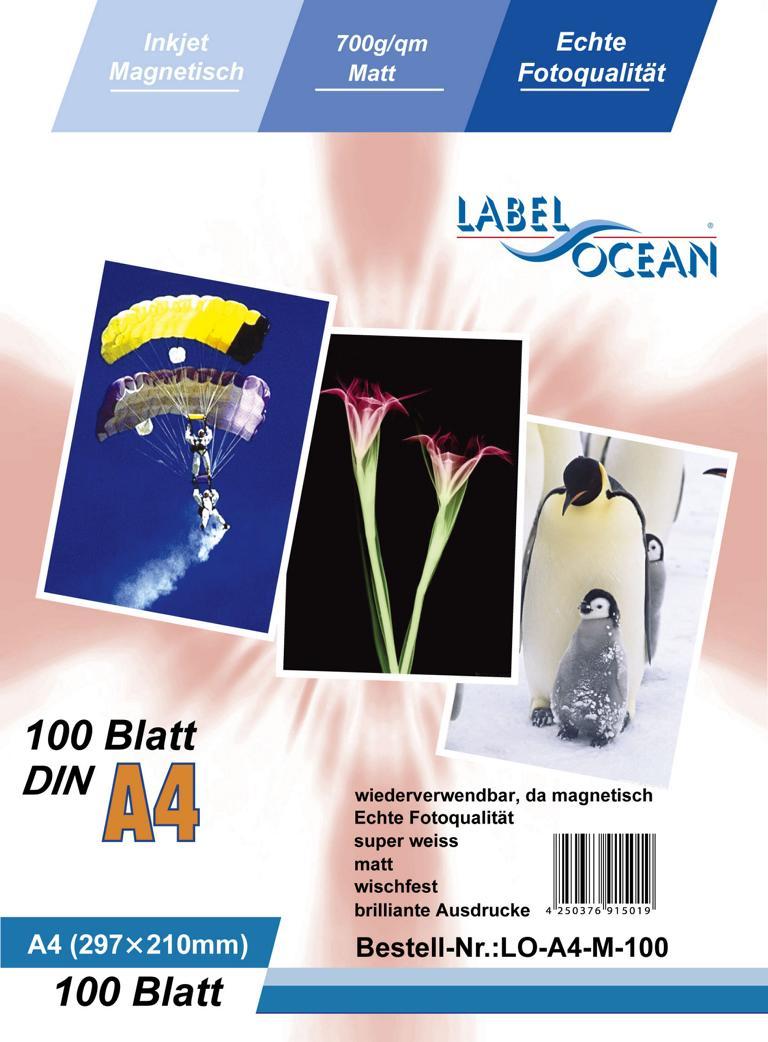 100 Blatt A4 Fotopapier magnetisch Magnetpapier matt