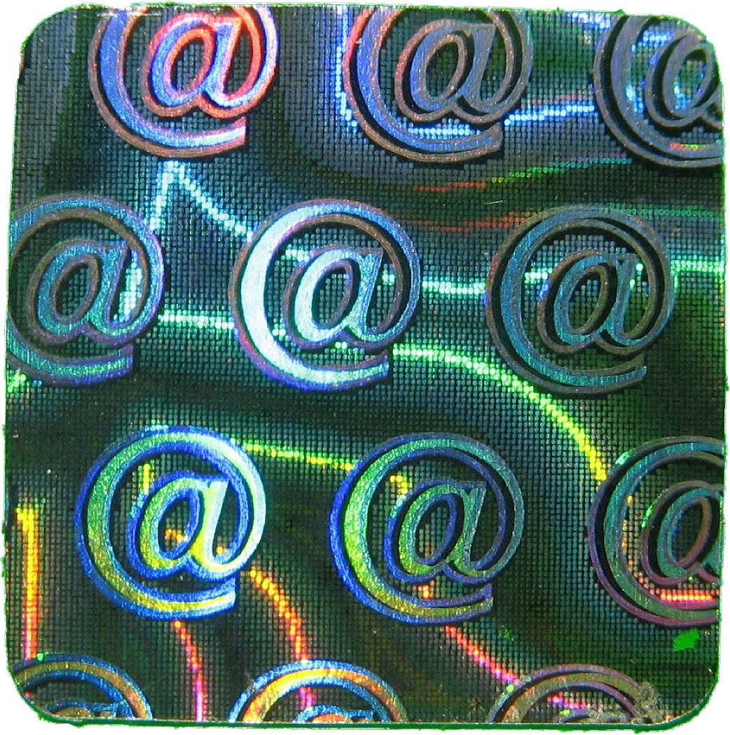 Hologramm-Aufkleber Siegel @, 10x10mm, Garantiesiegel, Sicherheitsetikett