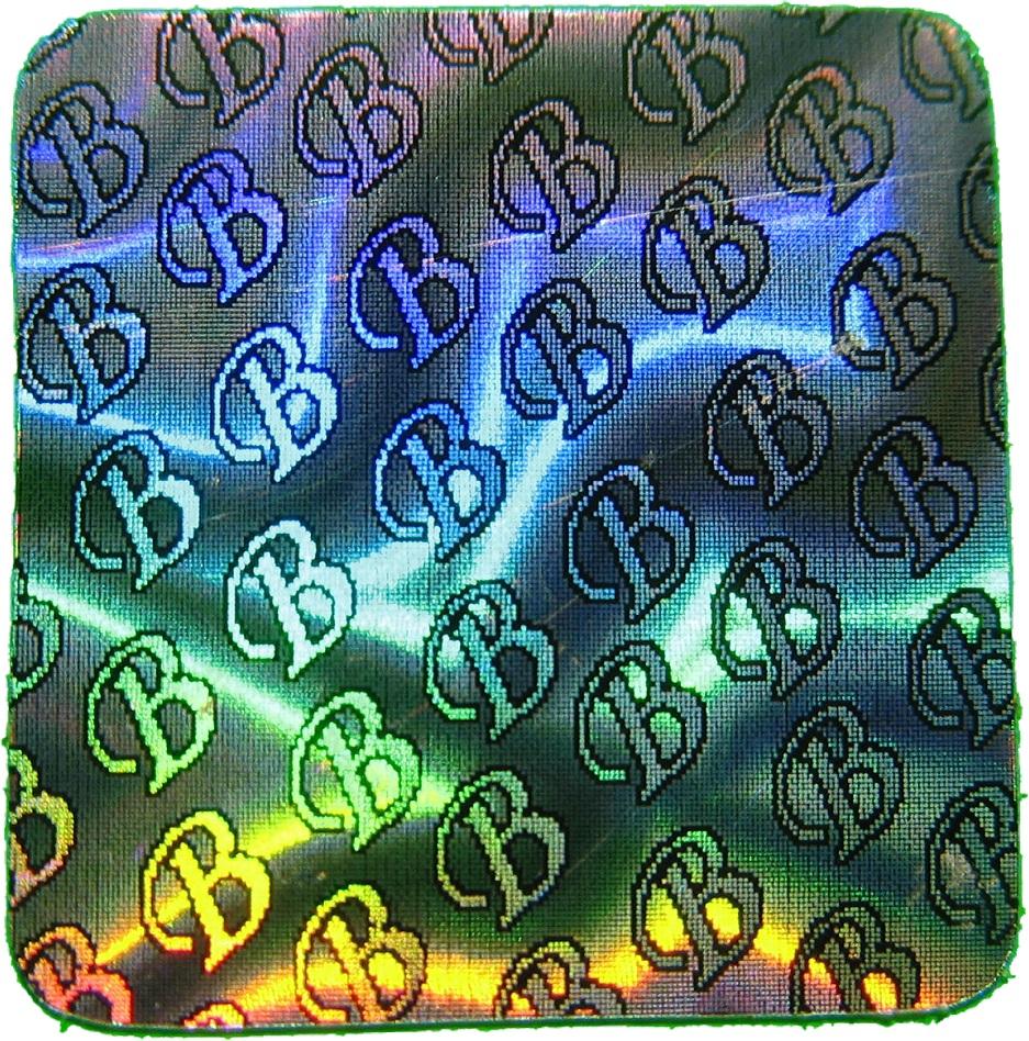 Hologramm-Aufkleber Siegel B, 10x10mm, Garantiesiegel, Sicherheitsetikett