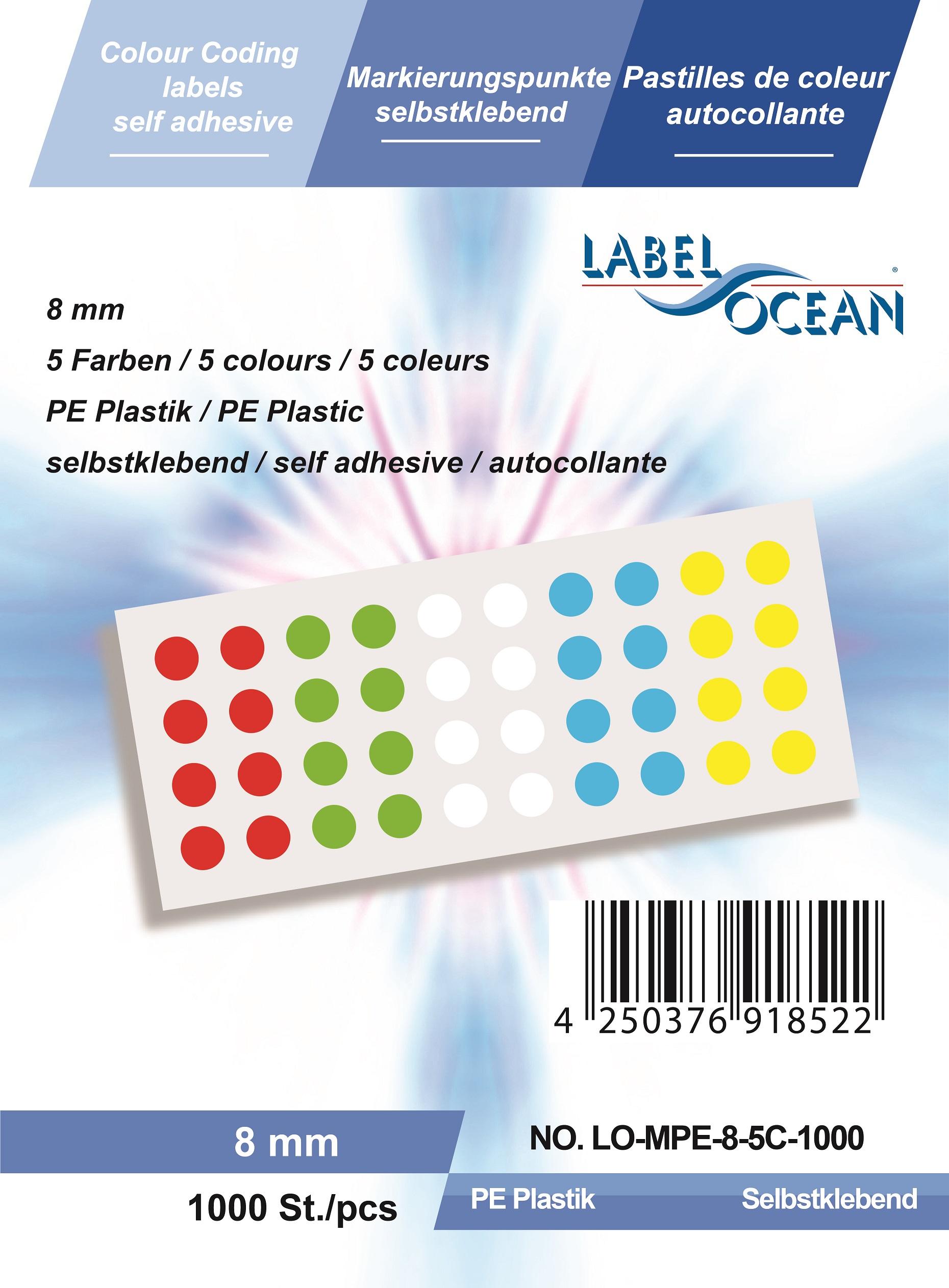 R Markierungspunkte rund aus Metallfolie von LabelOcean Klebepunkte 12mm