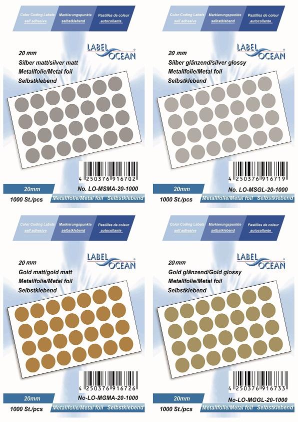 Markierungspunkte Klebepunkte 20mm Rund Aus Metallfolie Von