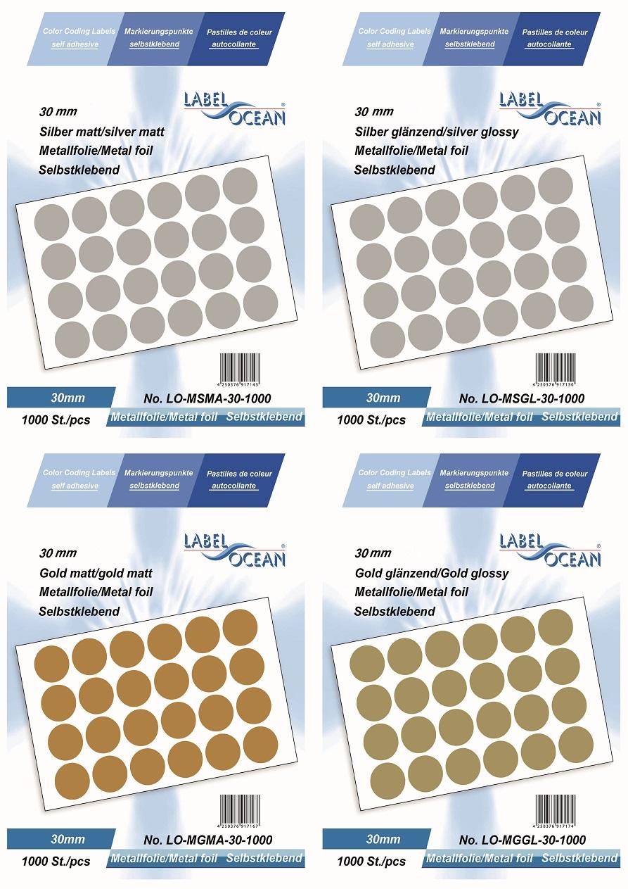 Markierungspunkte Klebepunkte 30mm Rund Aus Metallfolie Von