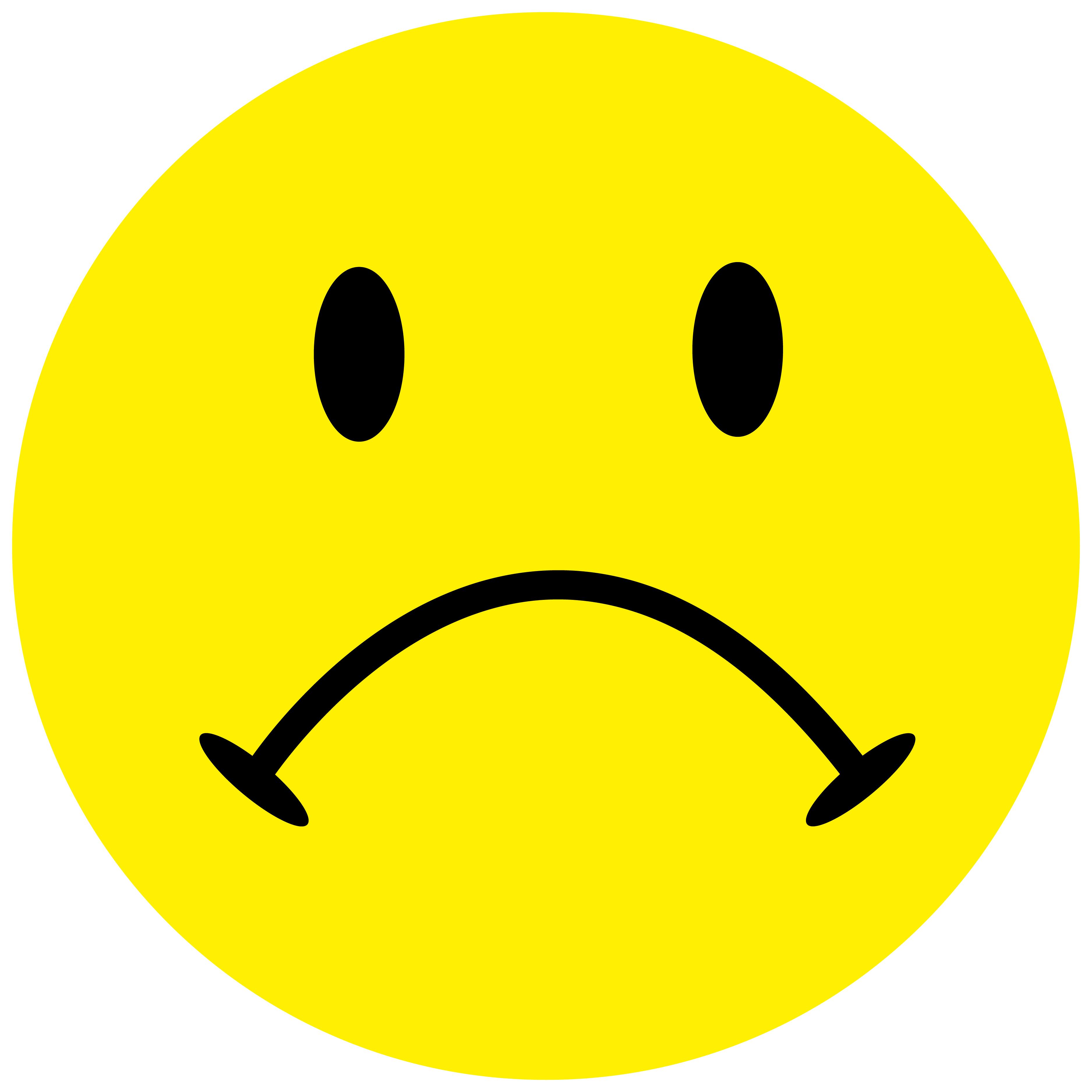 Smiley Aufkleber, Sticker Traurig Smilies, Menge/Größefrei wählbar