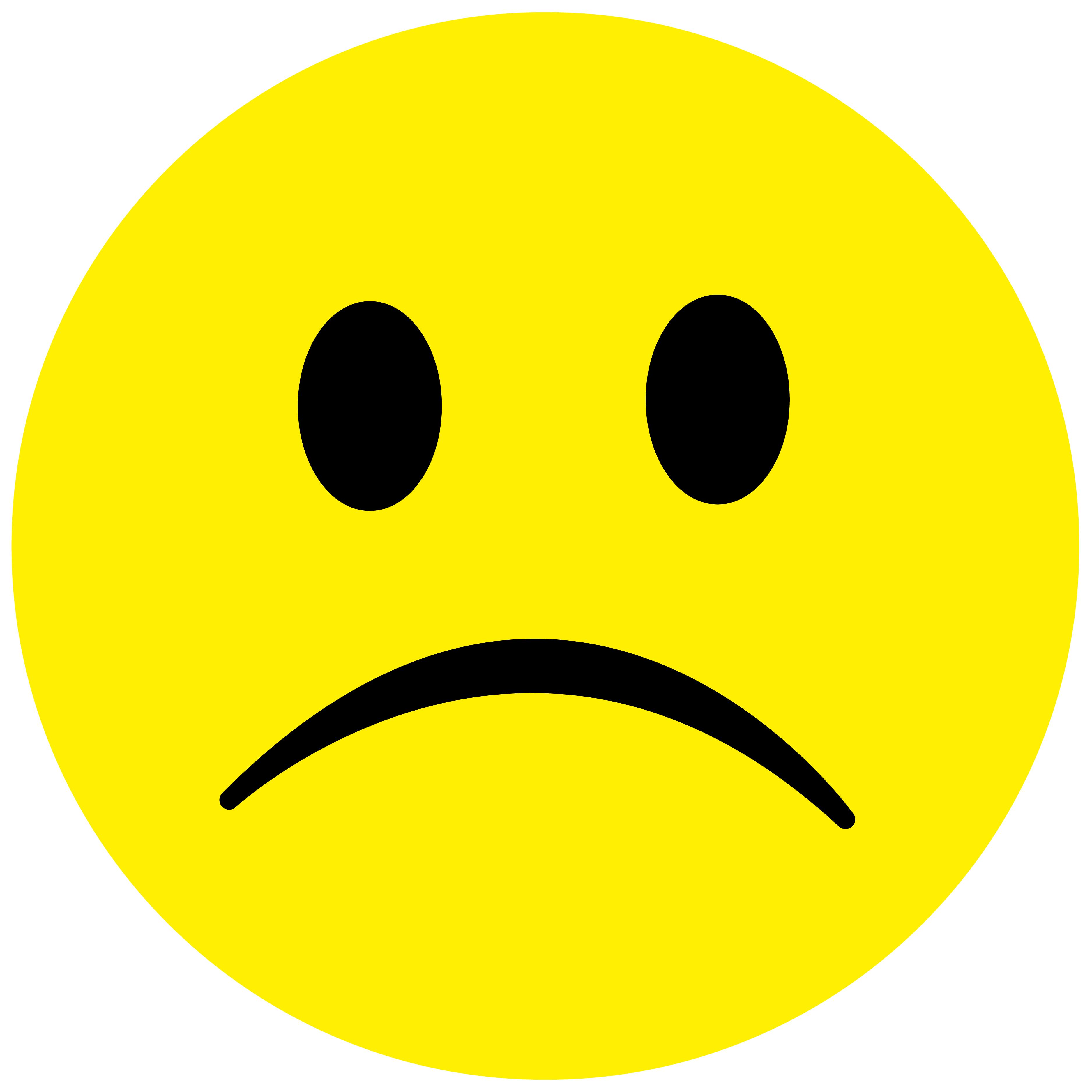 Smiley Aufkleber, Sticker Traurig2 Smilies, Menge/Größefrei wählbar