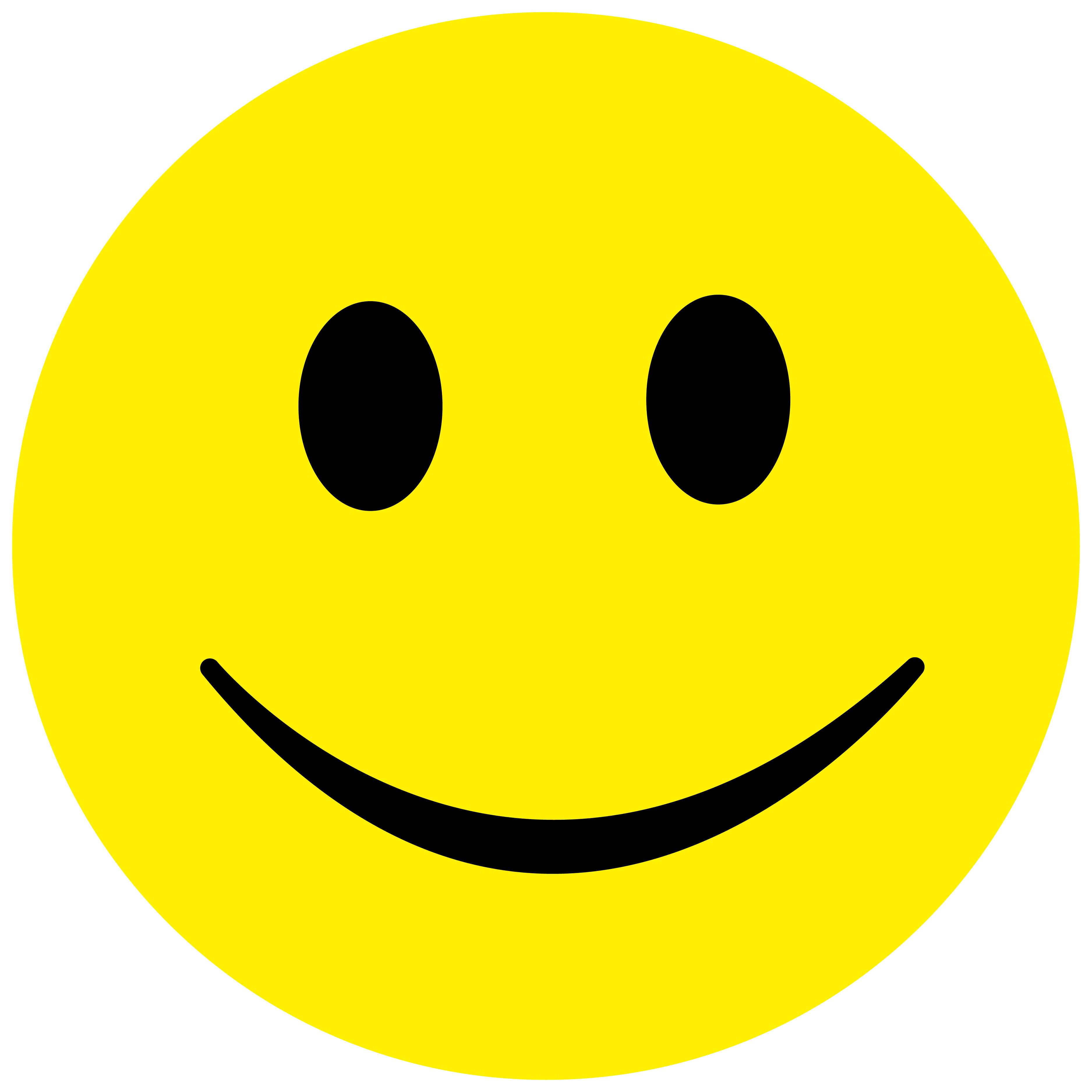 100 Stück Smiley Sticker ø 5cm, Aufkleber Fröhlich Smilies,  ES-SMI-0090-5-100