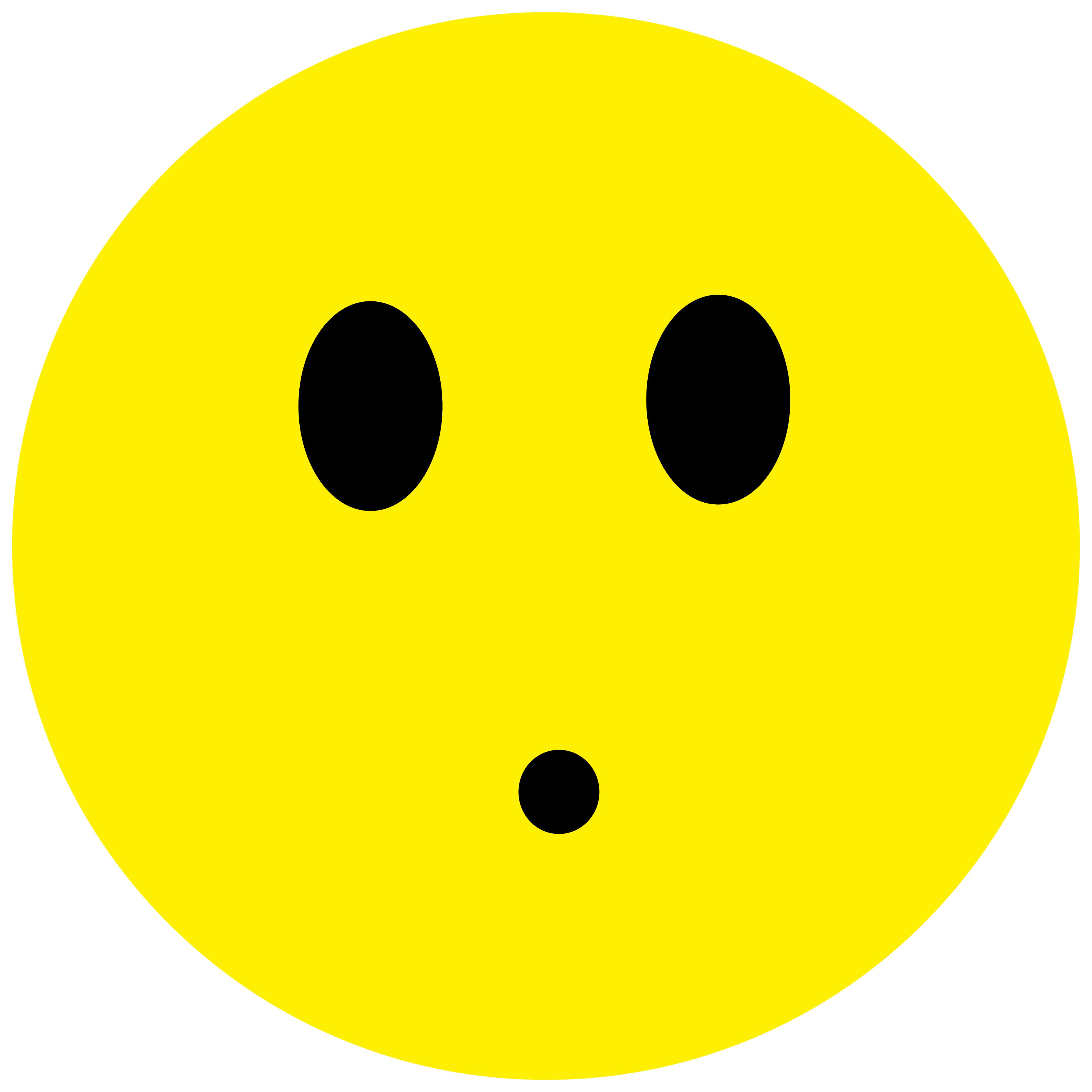 Smiley Aufkleber, Sticker Erstaunt Smilies, Menge/Größefrei wählbar