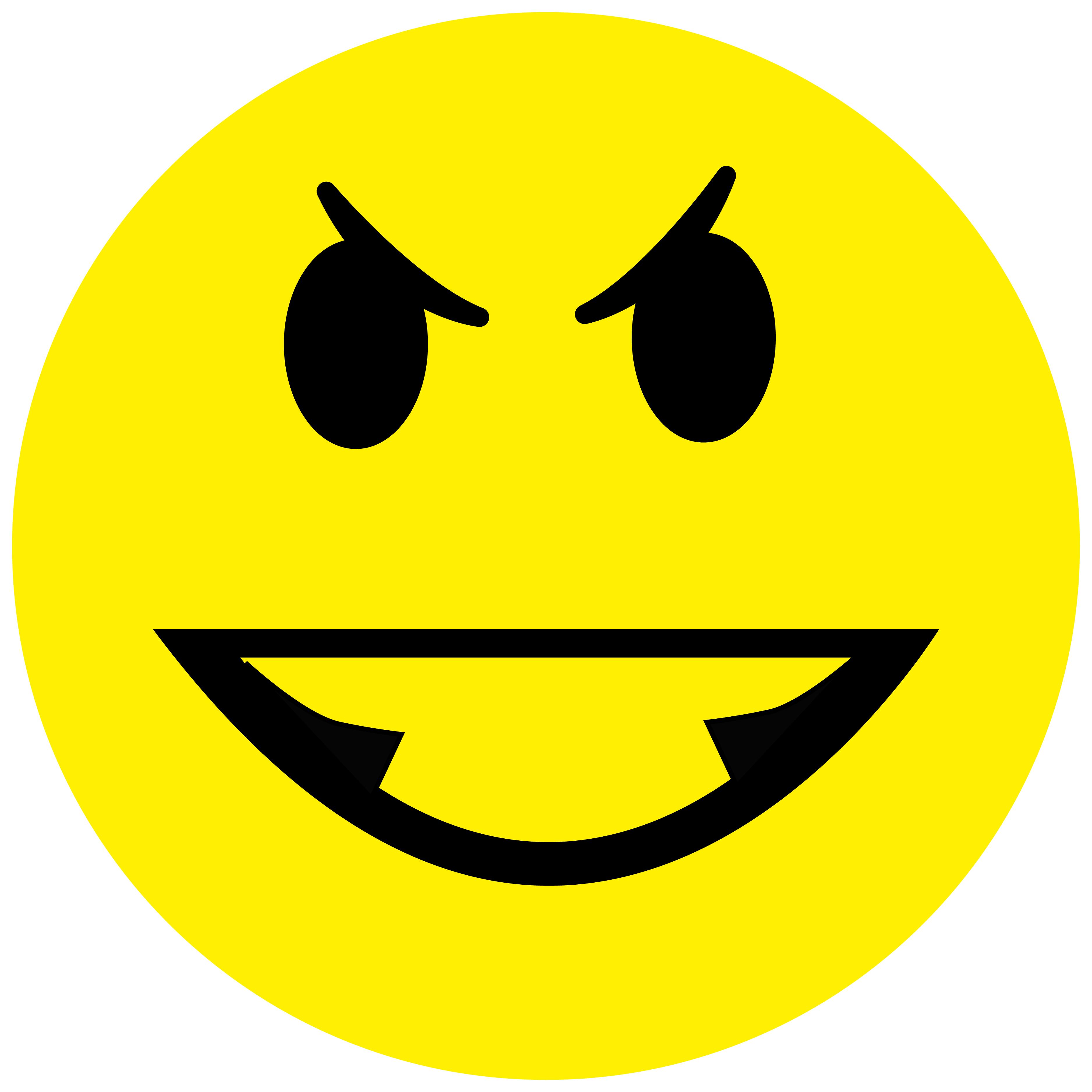 Smiley Aufkleber, Sticker Aggressiv2 Smilies, Menge/Größefrei wählbar