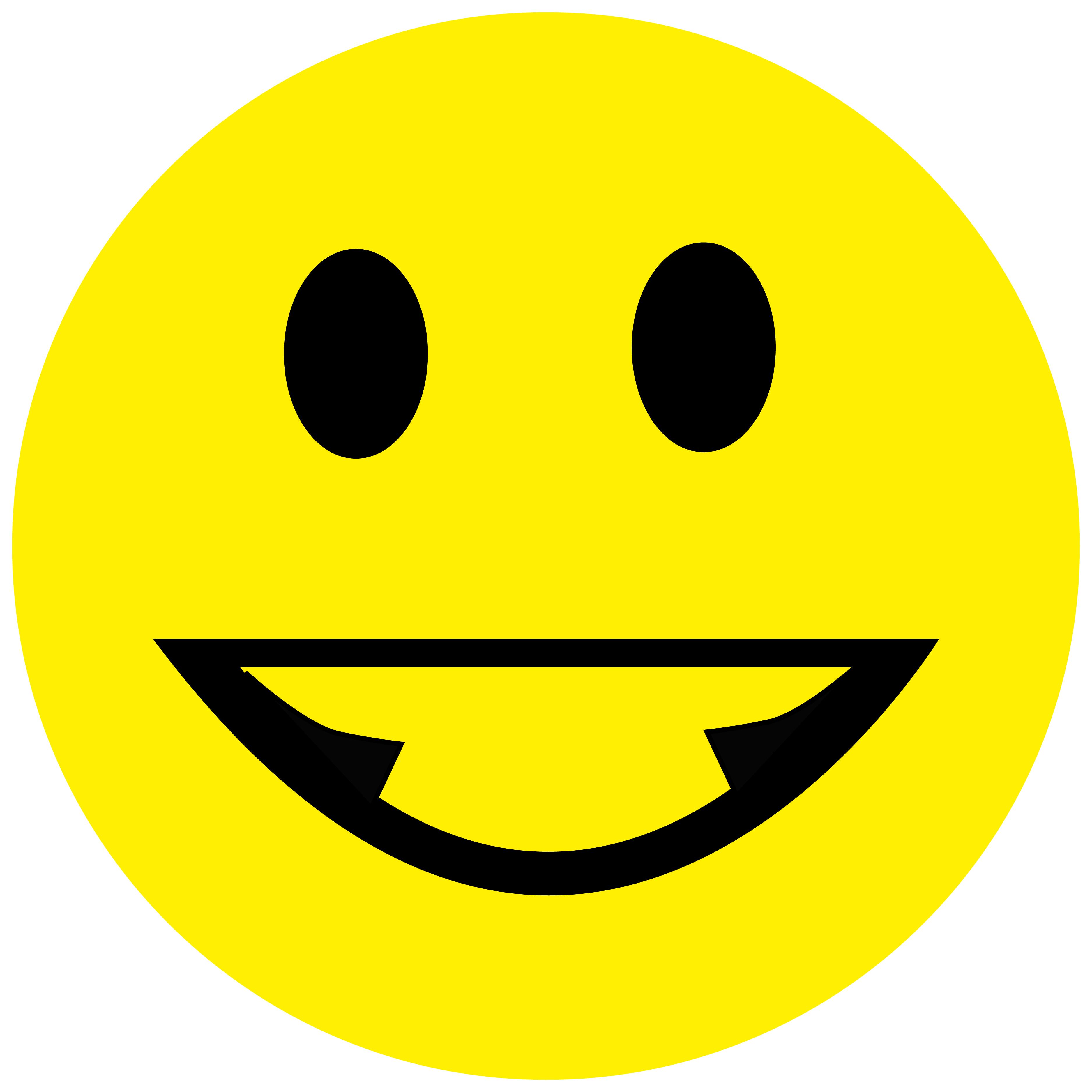 Smiley Aufkleber, Sticker Grinsend Smilies, Menge/Größefrei wählbar