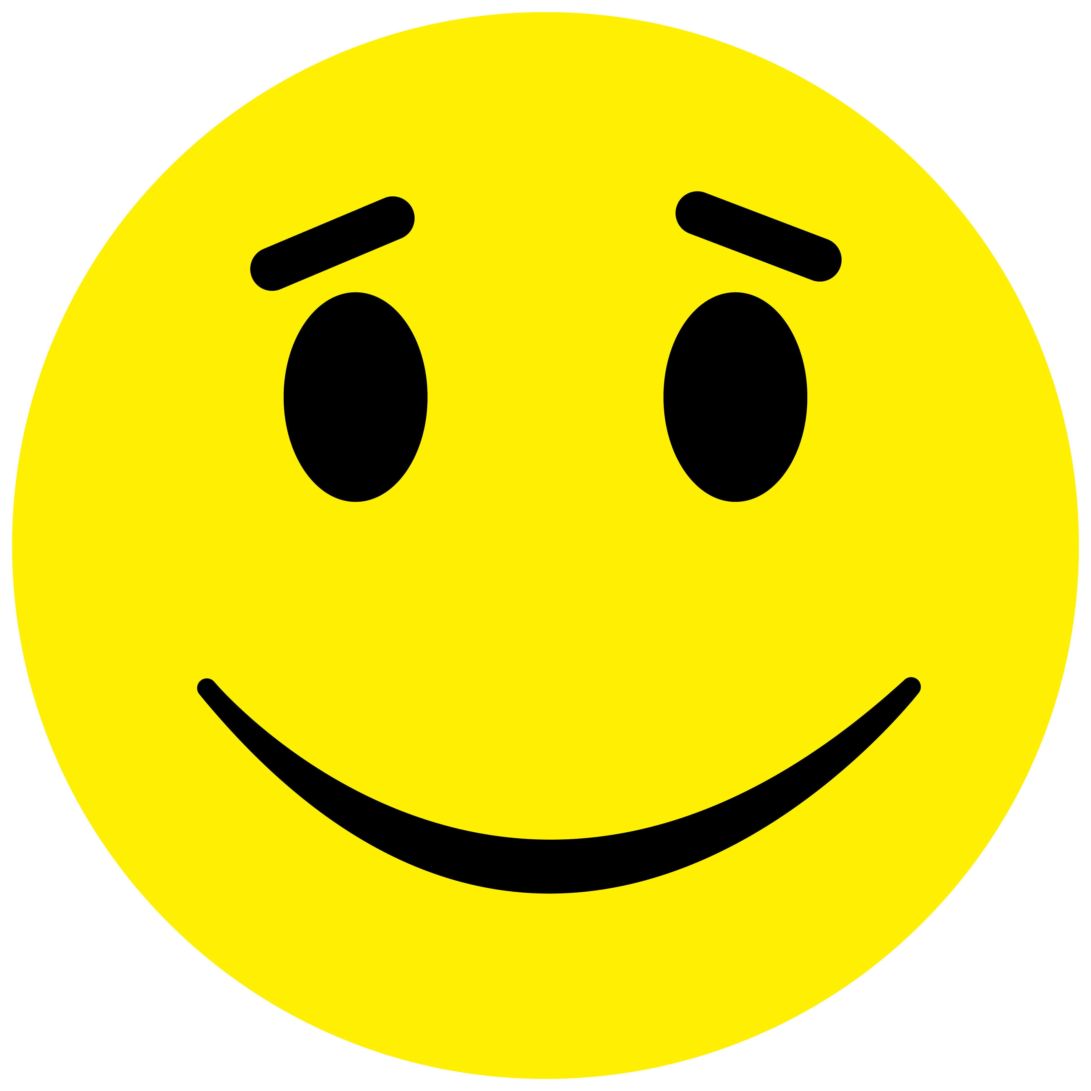 Smiley Aufkleber, Sticker Lächeln2 Smilies, Menge/Größefrei wählbar