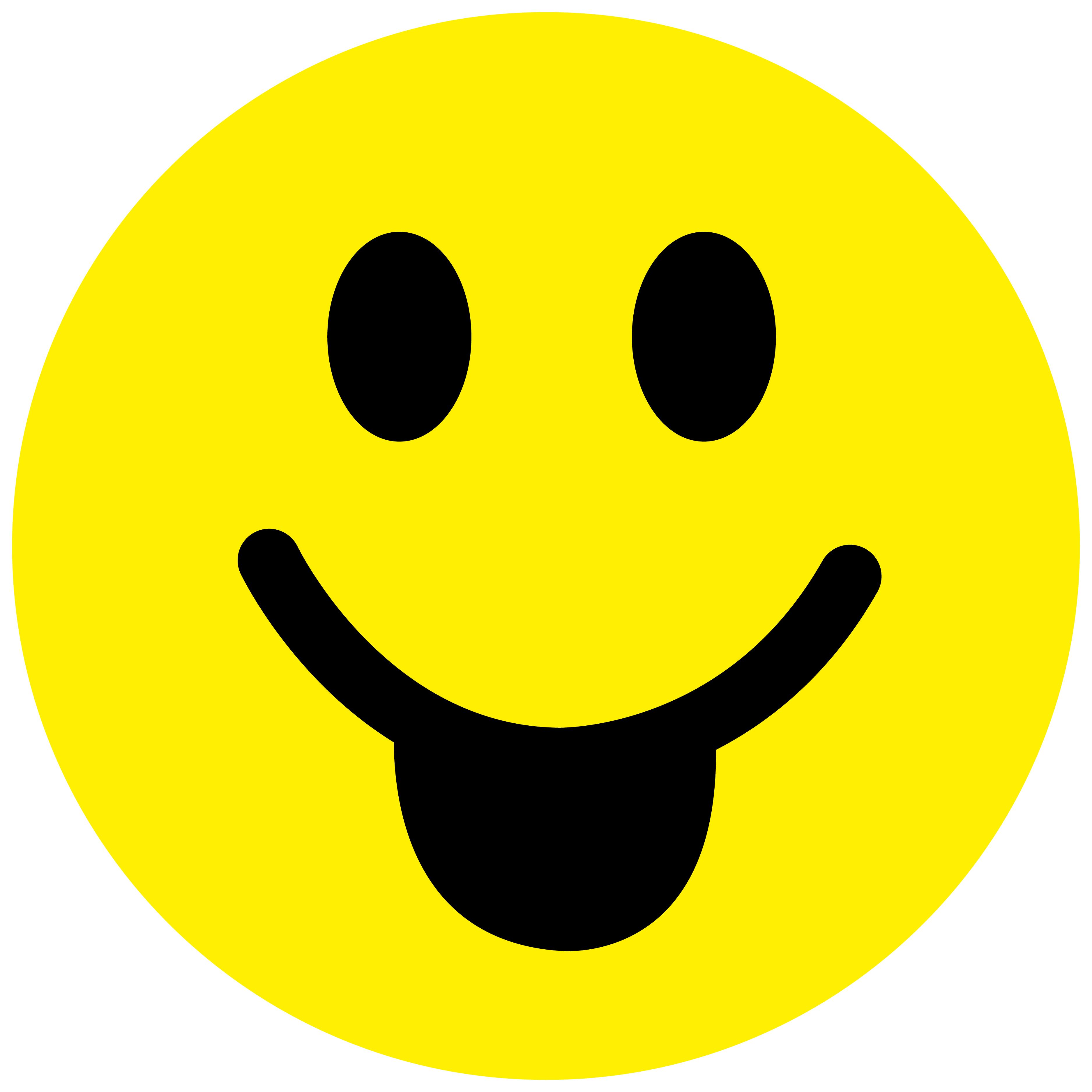 Smiley Aufkleber, Sticker Zunge Smilies, Menge/Größefrei wählbar