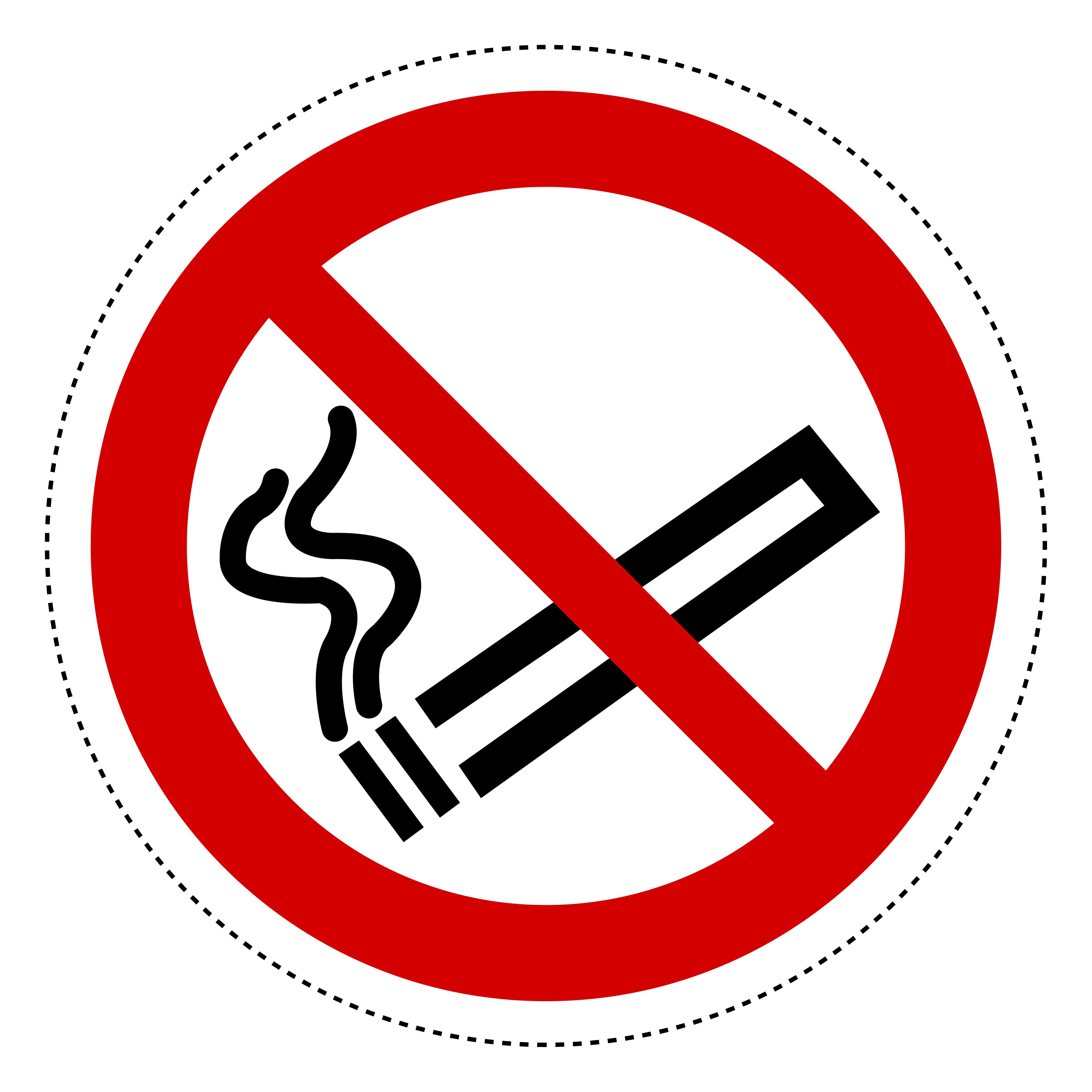 1 Aufkleber Rauchen verboten 10cm Ø PVC-Folie Nichtraucher Rauchverbot