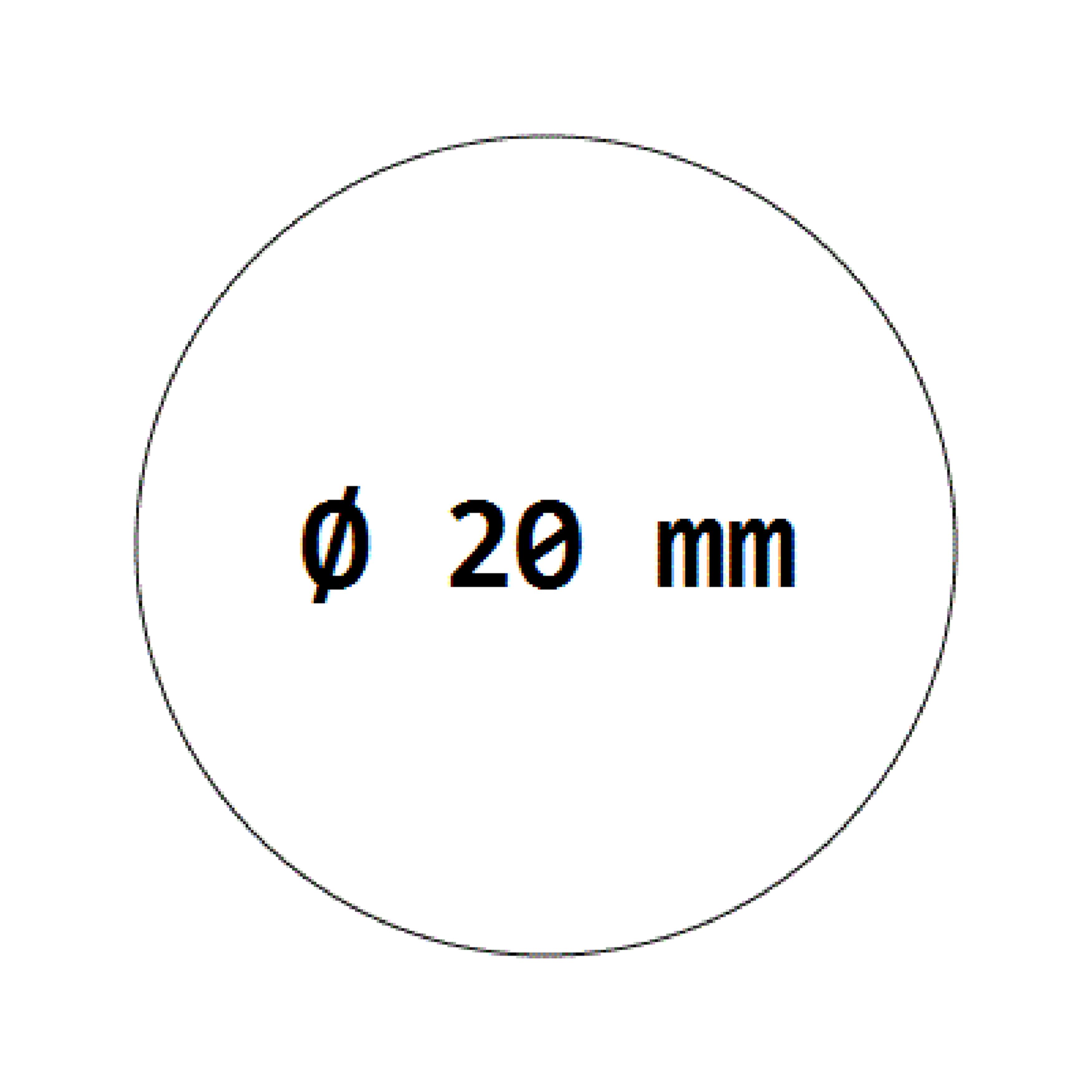 1000 Verschlussetiketten transparent auf Rolle 20 mm, permanent haftend