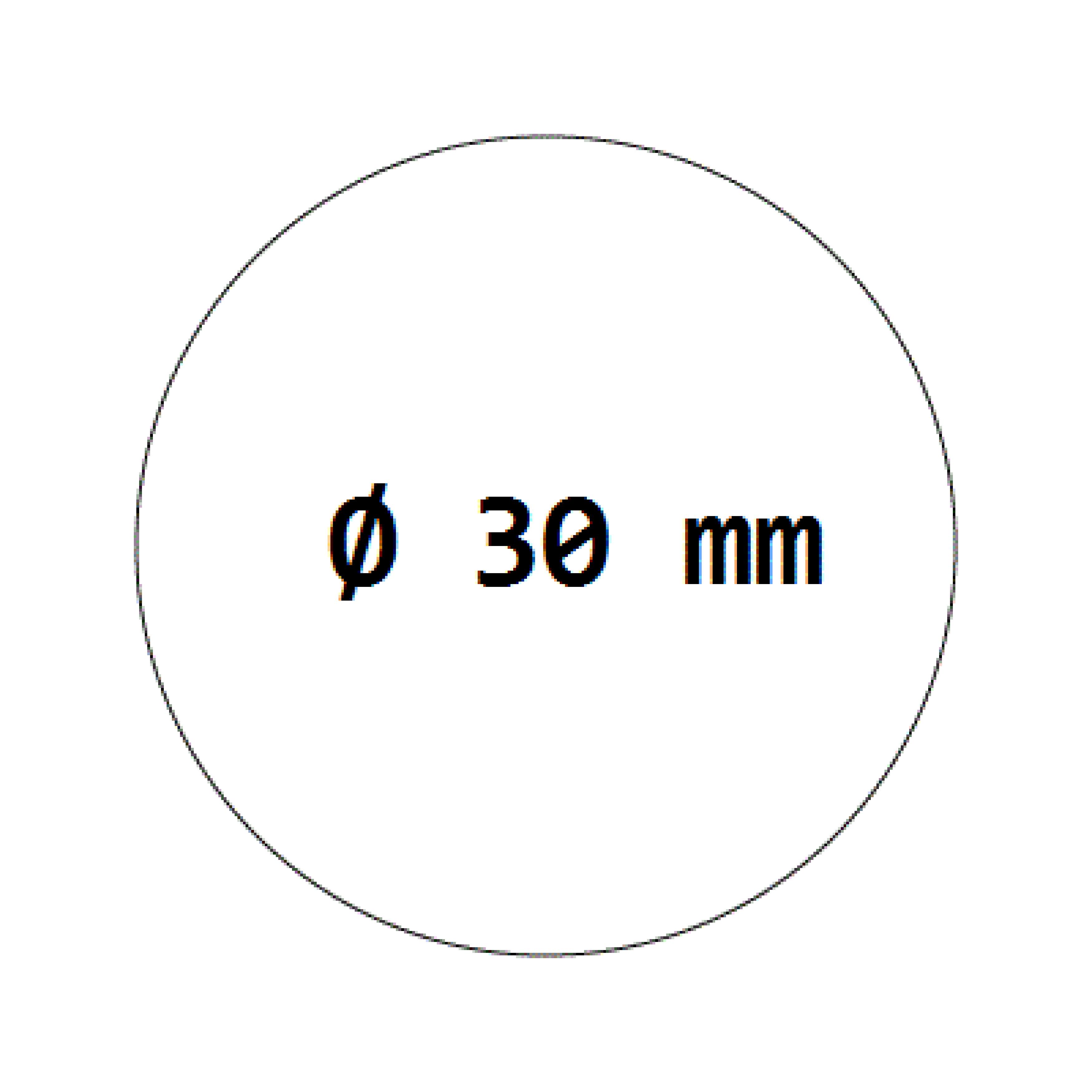 1000 Verschlussetiketten transparent auf Rolle 30 mm, permanent haftend