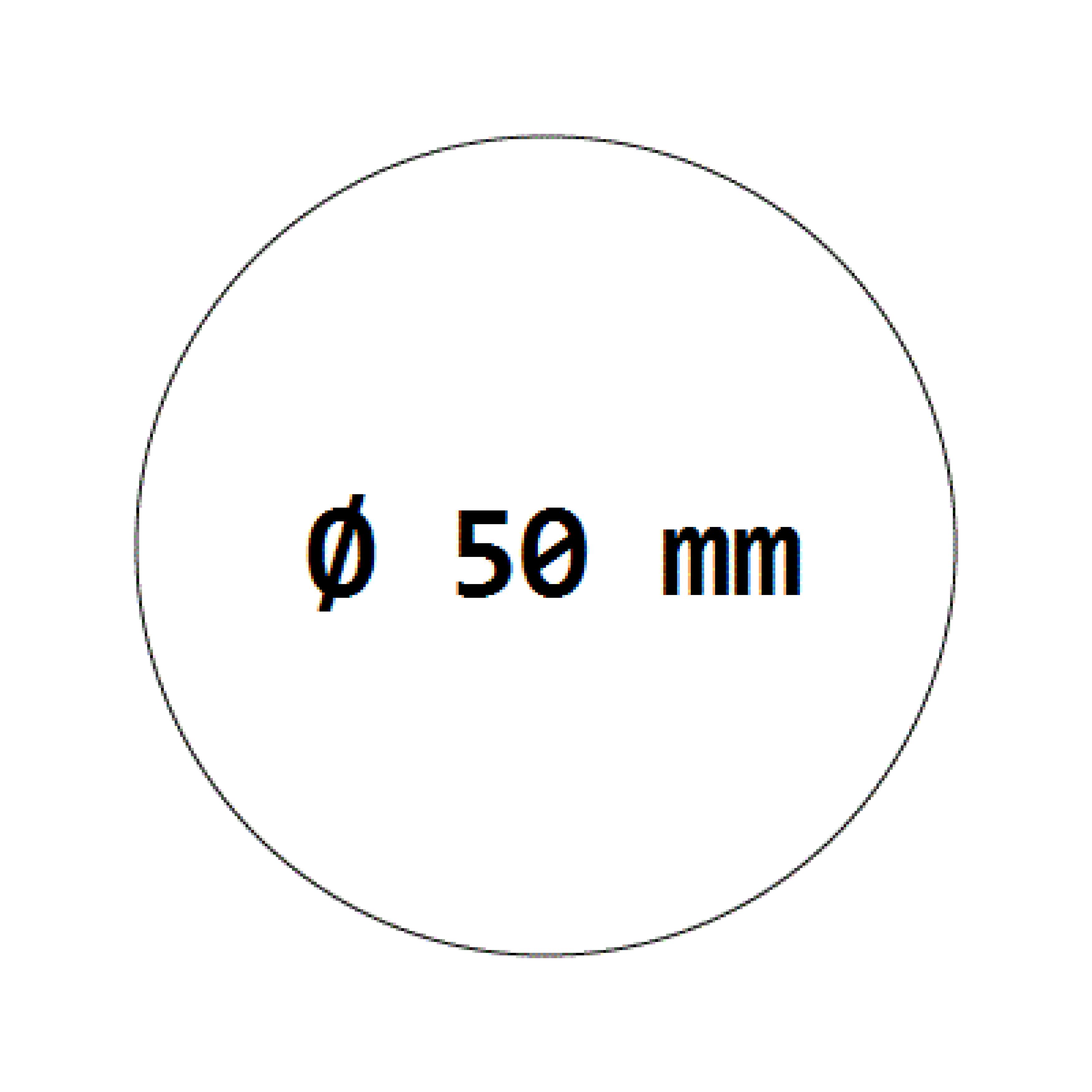 1000 Verschlussetiketten transparent auf Rolle 50 mm, permanent haftend