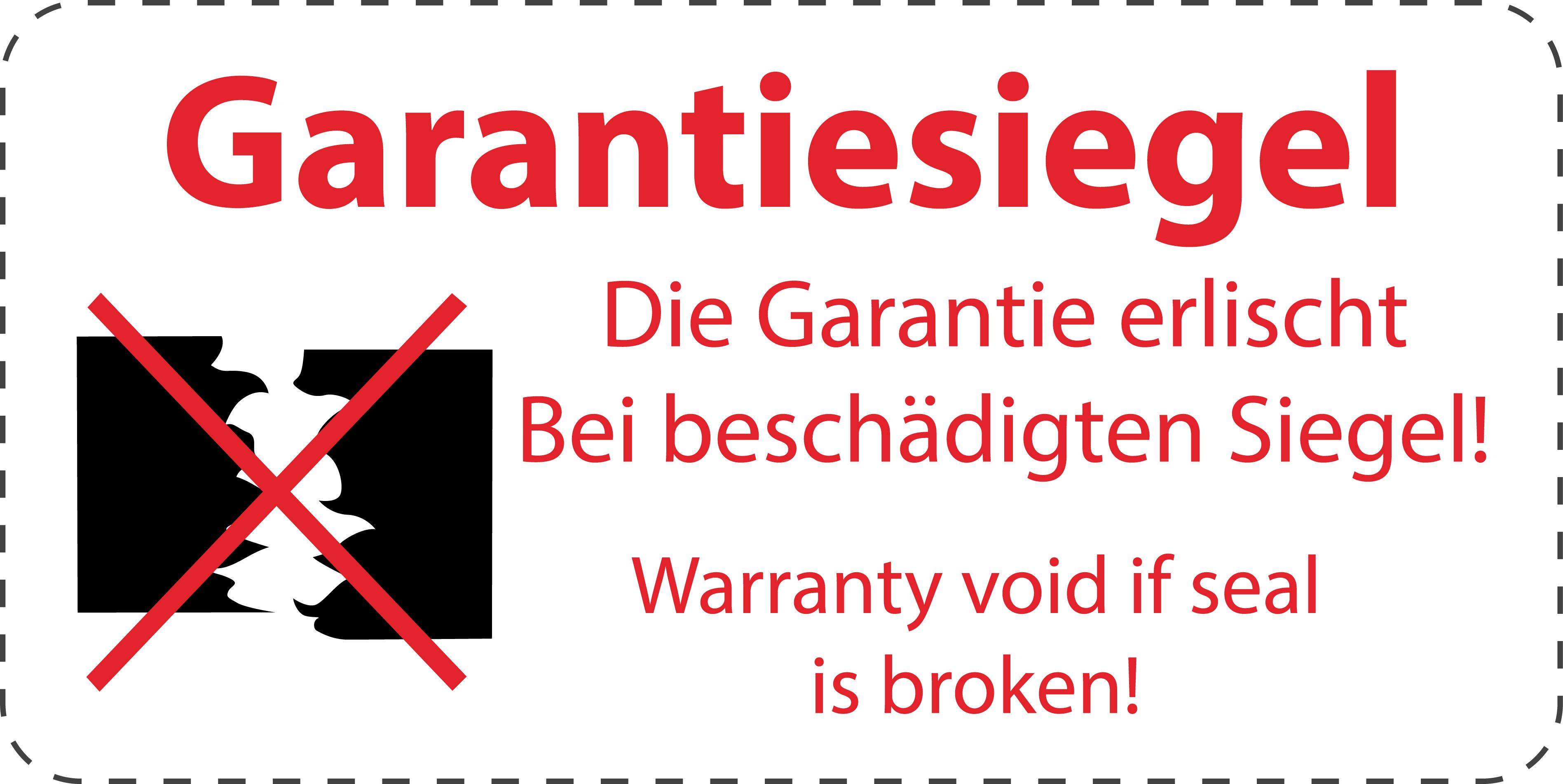 """Label Aufdruck ES-VOID100 VOID Sicherheitssiegel 40x20mm /""""Eigentum von/"""""""